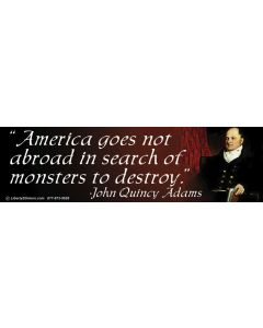America Goes Not Abroad (John Adams)