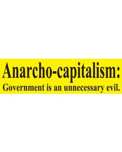 Anarcho-Capitalism Government is an Unnecessary Evil