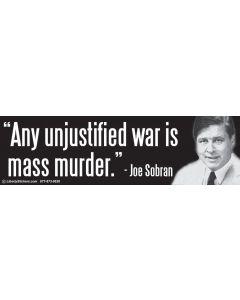 Any Unjustified War is Mass Murder Sobran