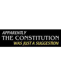 Apparently the Constitution was Just a Suggestion