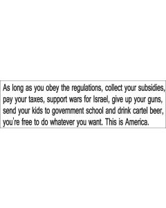 As Long as You Obey Regulations
