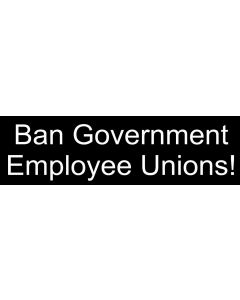 Ban Government Employee Unions