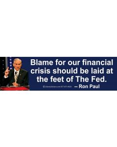 Blame for Our Financial Crisis
