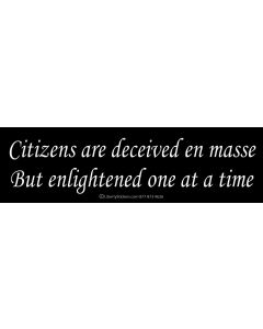 Citizens are deceived en masse