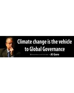 Climate change is the vehicle to Global Governance - Al Gore
