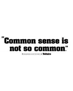 Common Sense is Not So Common (Voltaire)