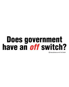 Does Government Have an Off Switch?