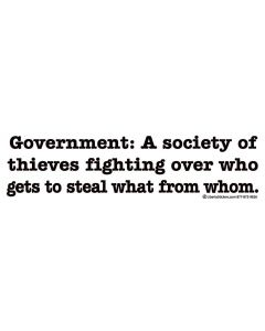Government a Society of Thieves