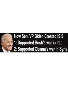How Sen./VP Biden Created ISIS:
