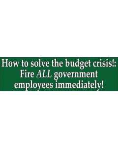 How to Solve the Budget Crisis