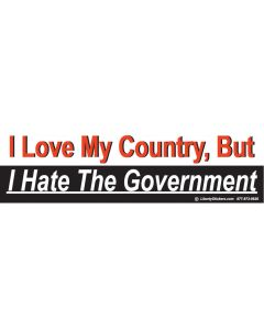 I Love My Country, But I Hate the Government