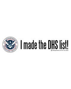 I Made the DHS List