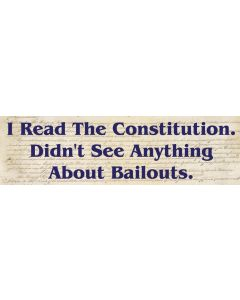 I Read the Constitution.