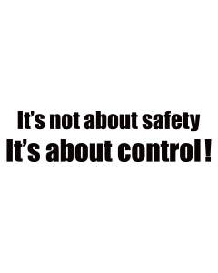 Its not about safety