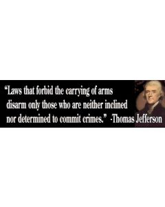 Laws That Forbid the Carrying of Arms (Thomas Jefferson)