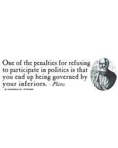 One of the Penalties for Refusing-Plato