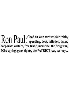 Ron Paul Good On War