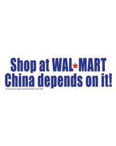Shop at Walmart China depends on it