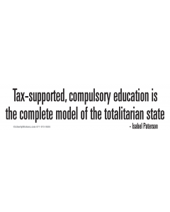 Tax-Supported Compulsory Education