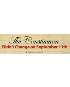 The Constitution Didn't Change On Sept 11