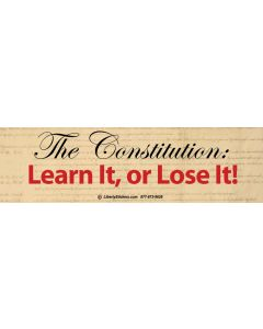 The Constitution Learn it or Lose It