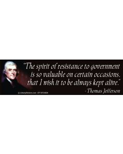 The Spirit of Resistance to Government (Thomas Jefferson)