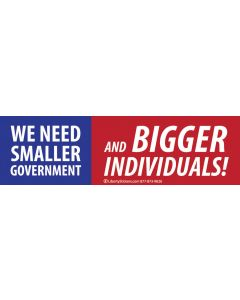 We Need Smaller Government