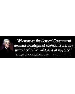 Whensoever the General Government